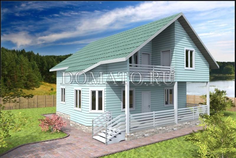 Каркасный дом 10.5×10.5