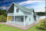 фасад каркасного дома 10.5×10.5