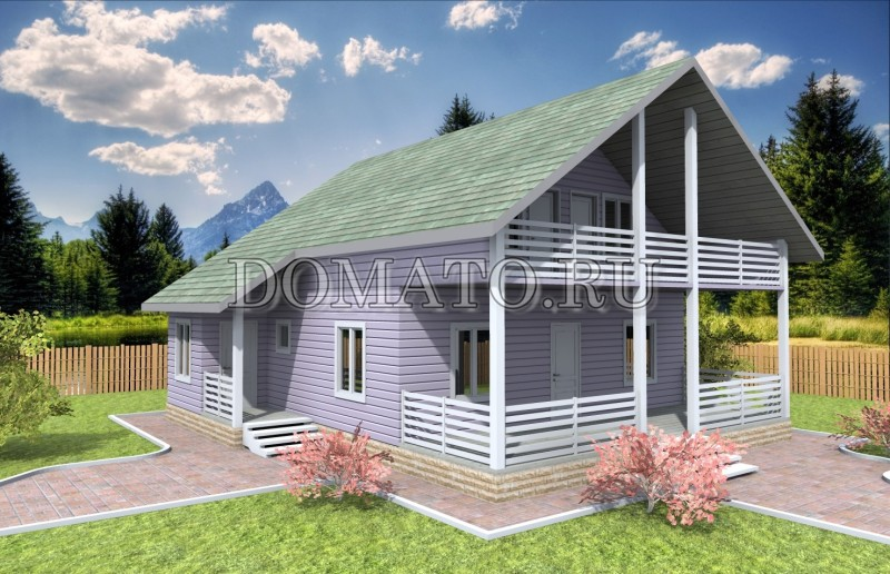 Каркасный дом 10.5×9.5