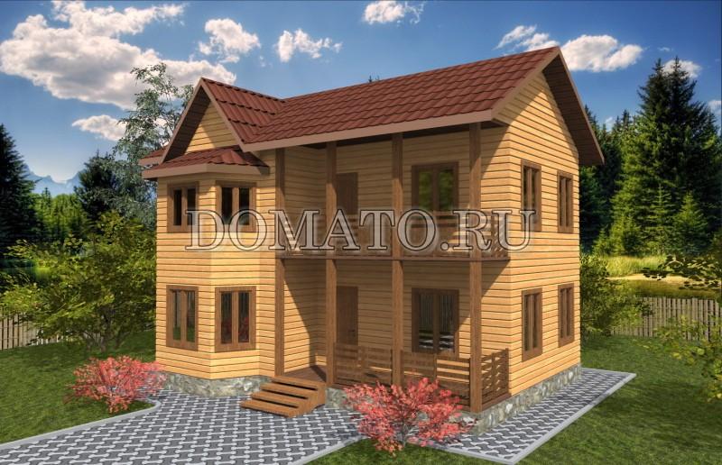 Двухэтажный дом 7×9