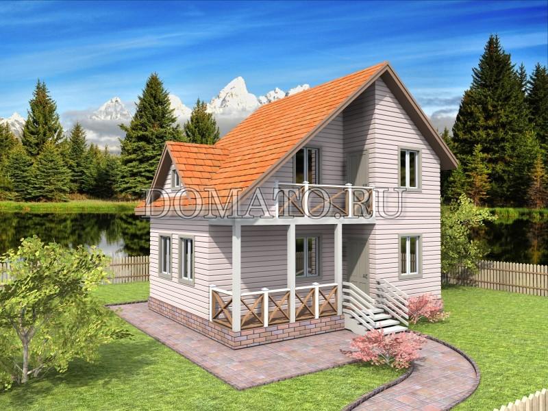 Каркасный дом 6×8