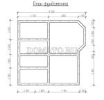 план фундамента каркасного дома 10.5×10.5