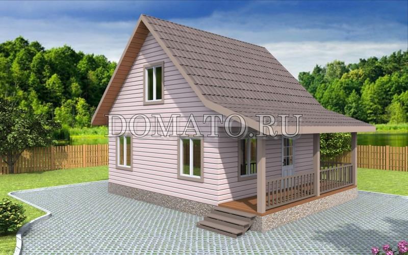Каркасный дом 6×7.5