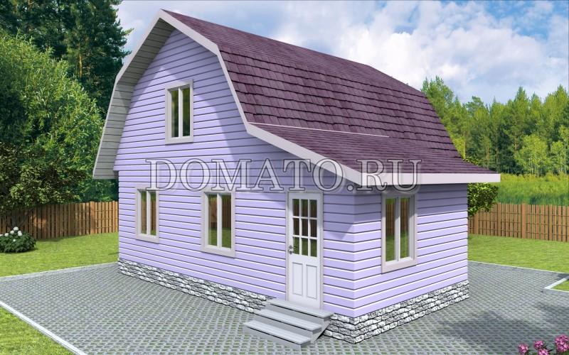 Каркасный дом 7×8