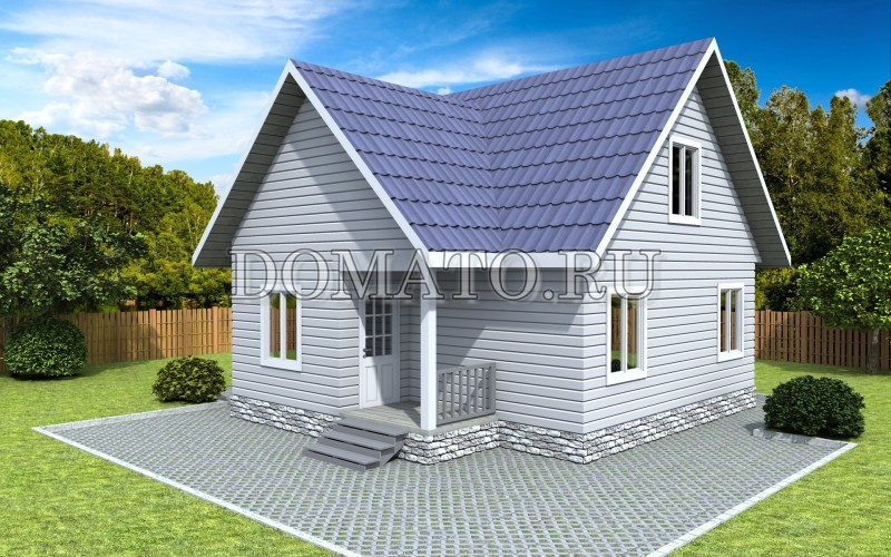 Каркасный дом 7.5×8