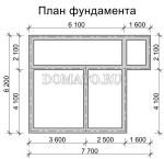 план фундамента садового дома 6 на 7,5