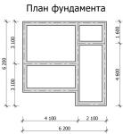 план фундамента бани 6×6