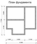 план фундамента дома 7,5 на 8