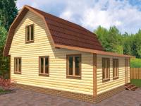 Дом 7×6 с верандой