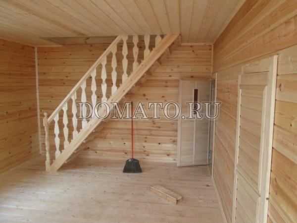деревянная лестница в бане