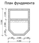 план фундамента бани  5 на 4