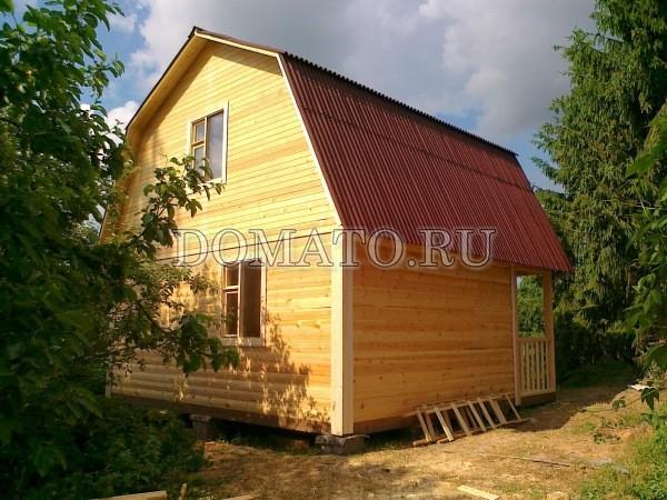 фото дачного дома из бруса
