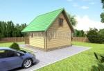 Проект двухэтажной бани 6х6 из бруса