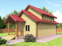 Проекты двухэтажных бань
