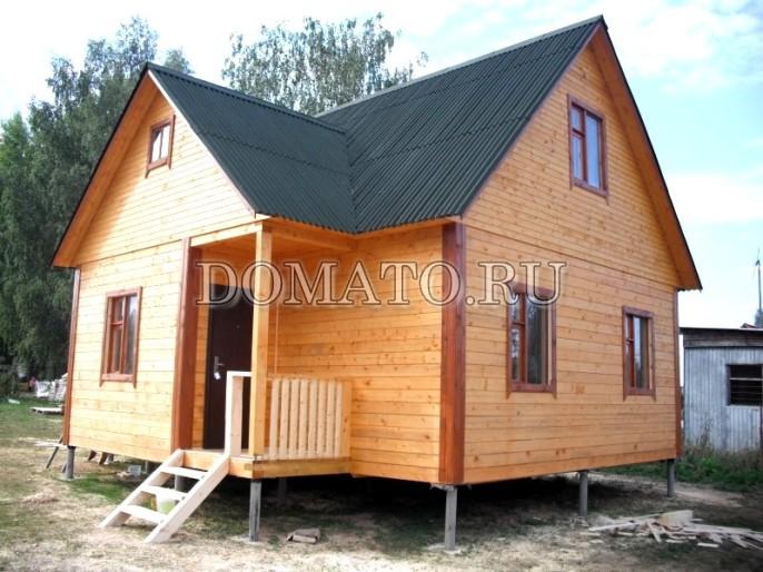 дачный доми из бруса