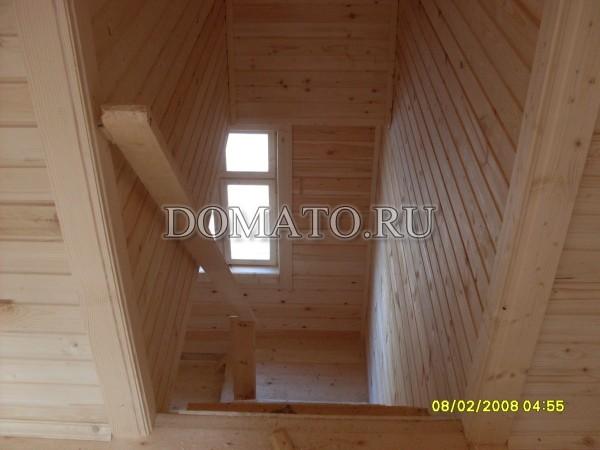 фото внутри деревянного дома из бруса