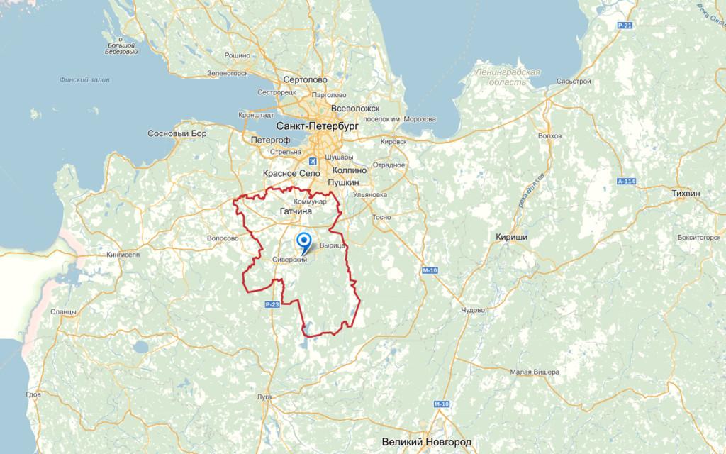 Карта Гатчинский район