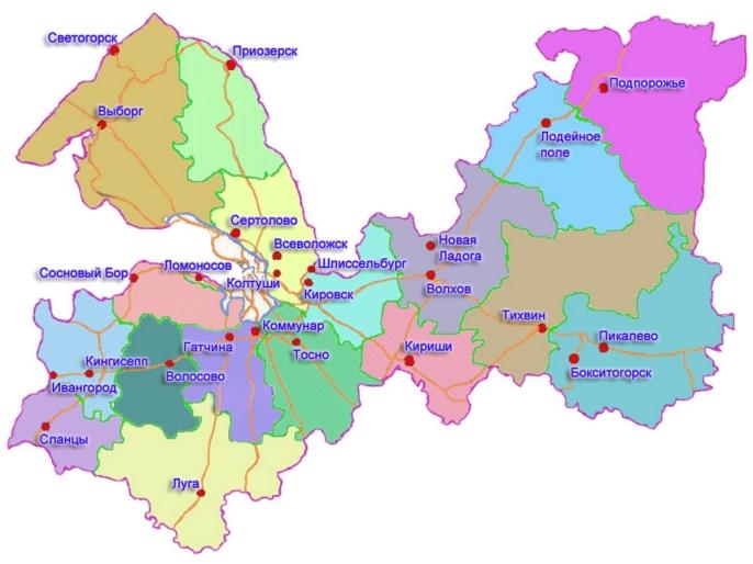 Карта Волховский район