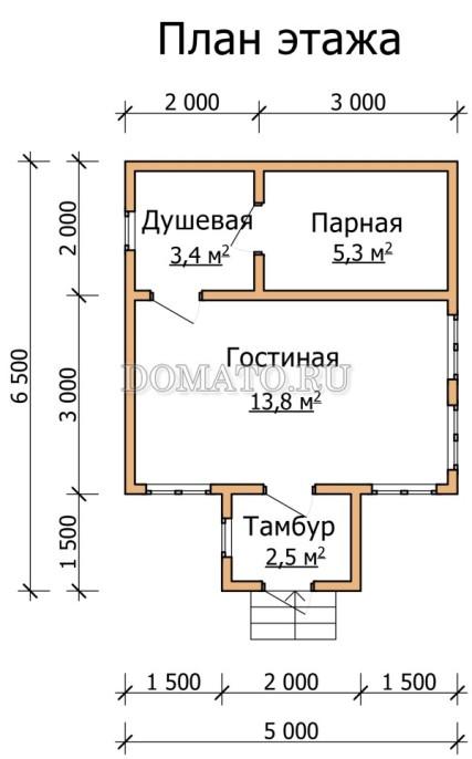 план бани 6.5×5