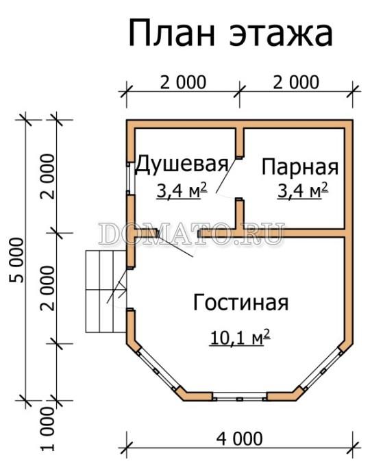 план бани 5×4