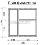 план фундамента двухэтажной бани 6х8