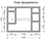 план фундамента бани 6×8