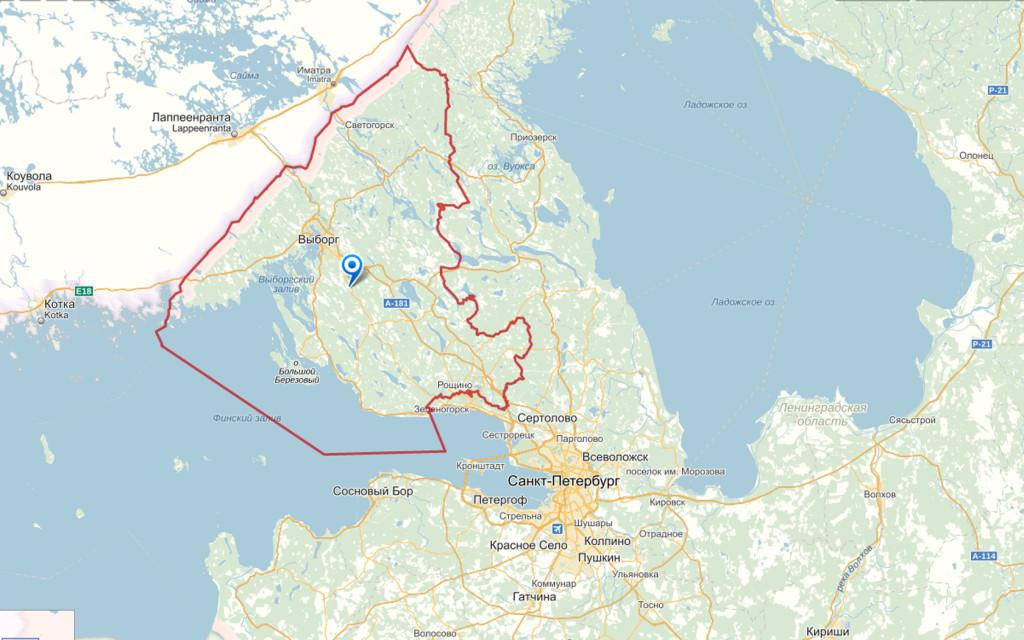 карта Выборский район