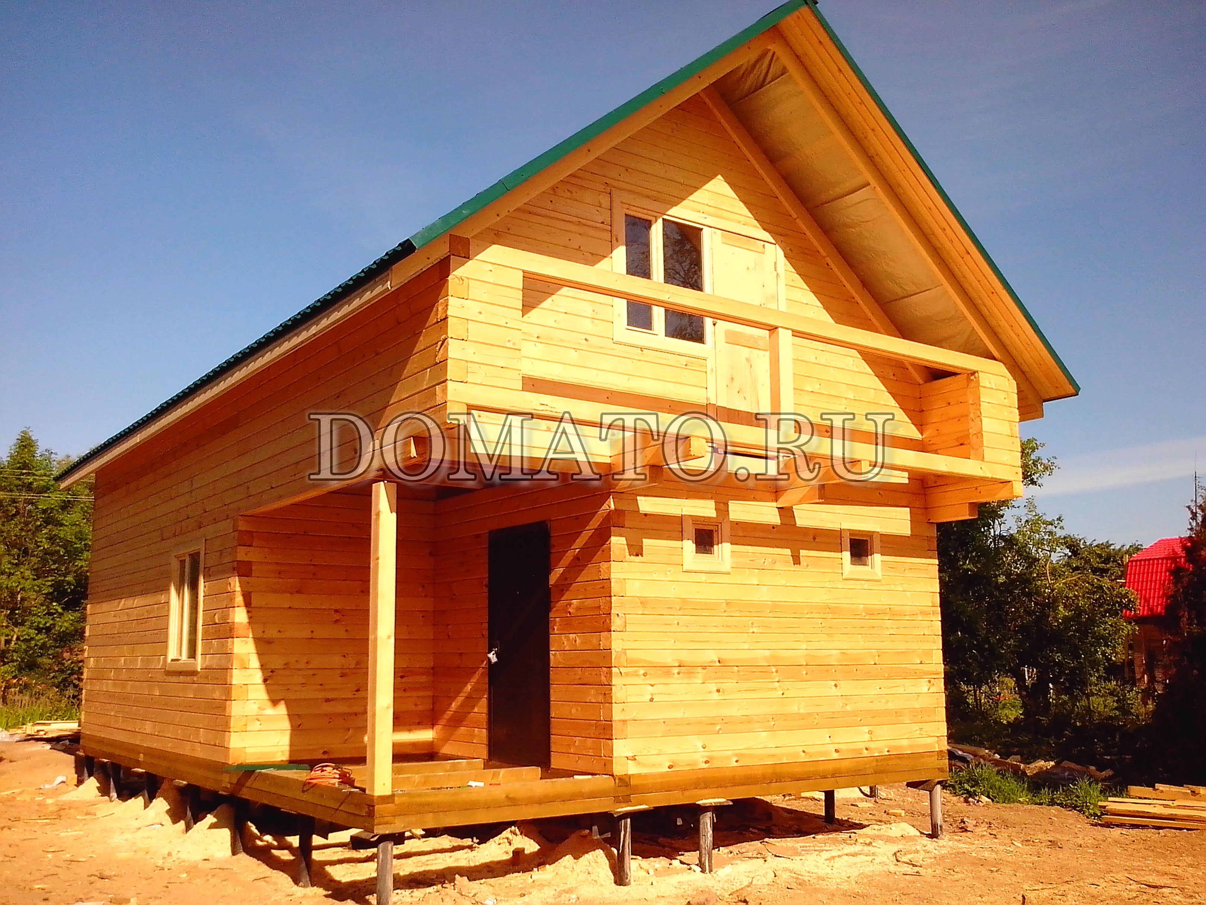 Дом из профилированного бруса проект 0001 - строительство до.