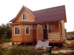 брусовой дачный дом