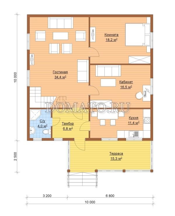 K1 - план 1 этаж