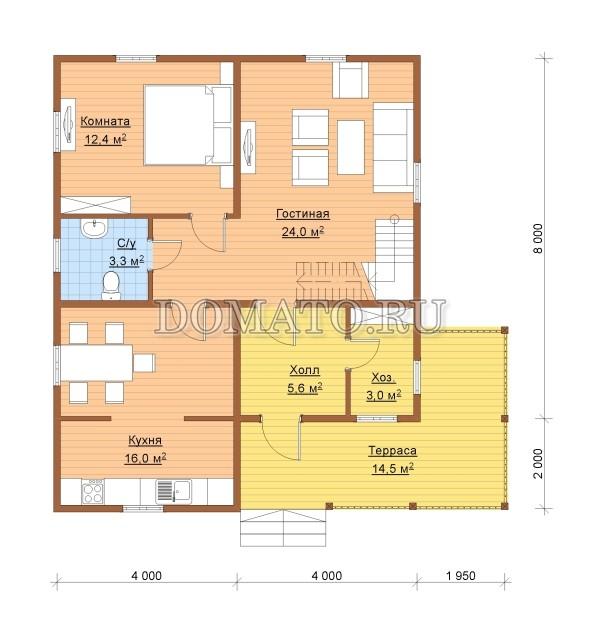 K14 - план 1 этаж