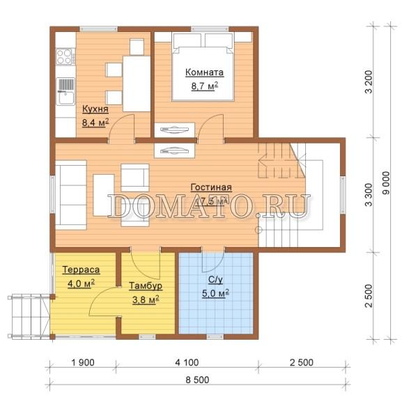 K2 - план 1 этаж
