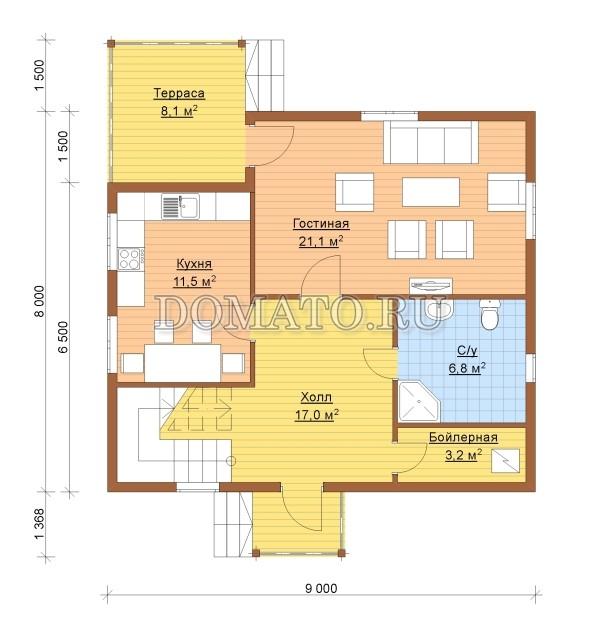 К3 - план 1 этаж