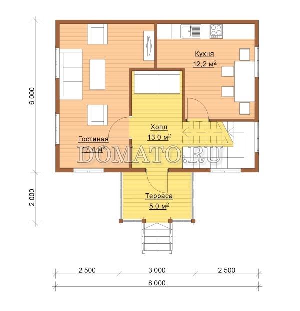 план 1 этаж