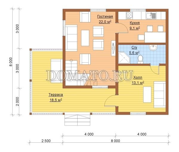 K8 - план 1 этаж