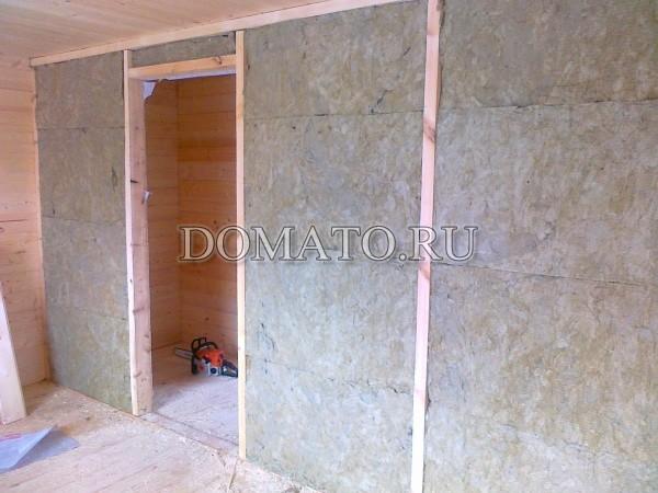 пароизоляция стен в доме из бруса по утеплителю