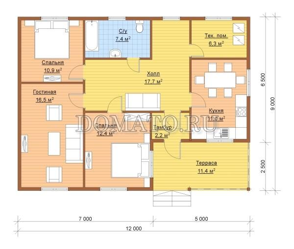 план этажа 12 на 9