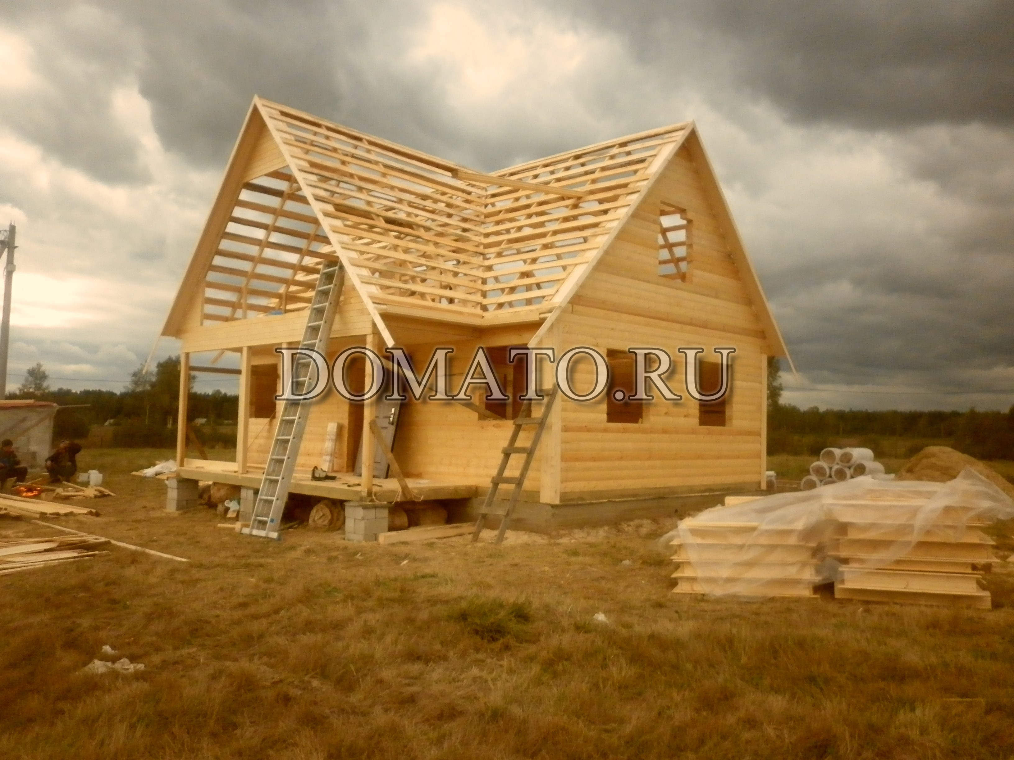Строительство дома в деревне своими руками