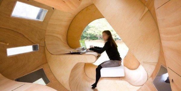 деревянный дом траснформер