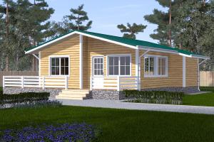 Дом одноэтажный 10,5х9 с террасой Проект ОД№1 Цена: 710.000 рублей