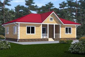 Дом одноэтажный 12х8 Проект ОД№3 Цена: 000.000 рублей