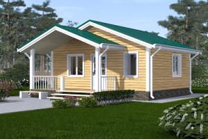 Дом одноэтажный дачный 6х5 Проект ОД№5 Цена: 000.000 рублей