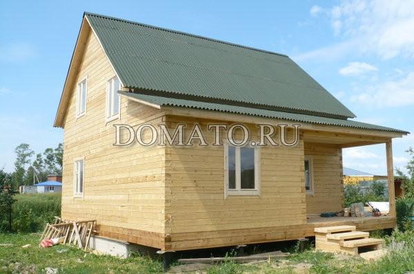 домик жилой из бруса