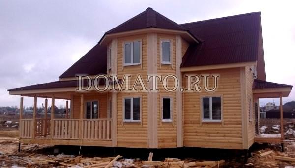 Жилой дом коттедж из бруса