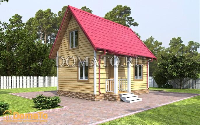 Дачный дом эконом 6 на 4 с мансардой