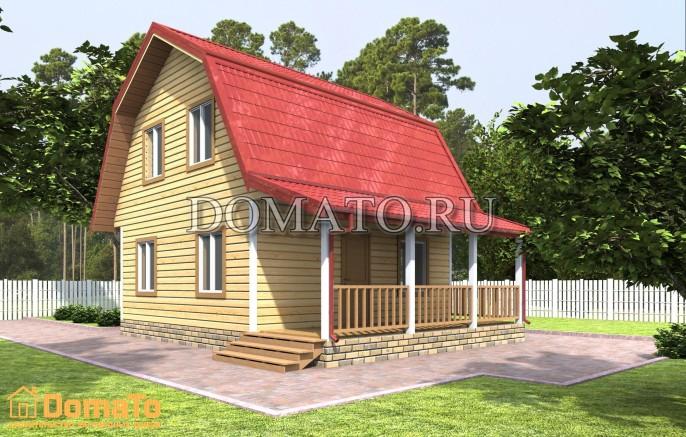 Дом 6×6  с террасой
