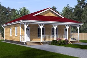 Дом на две семьи с двумя входами_мини