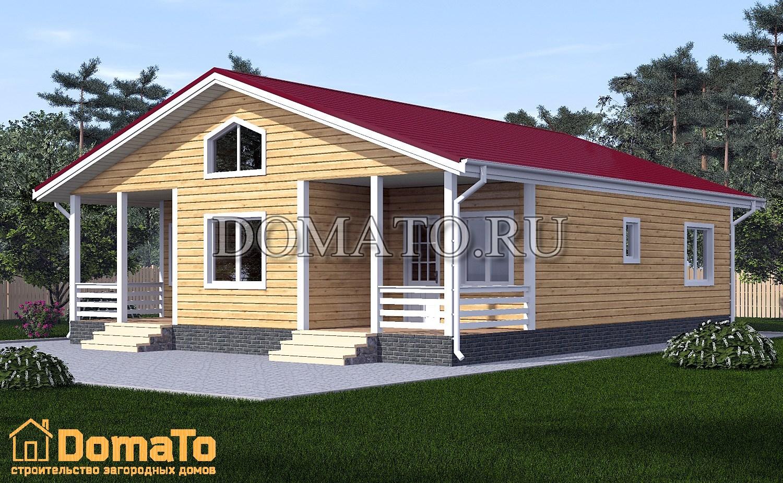 Дом одноэтажный 10х12 с двумя входами