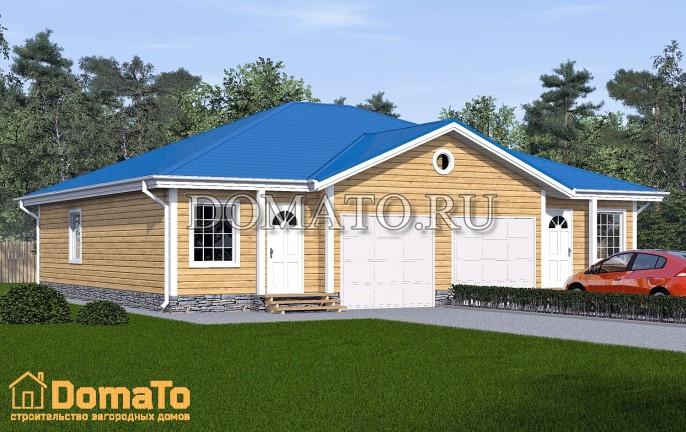 Дом с двумя гаражами на две семьи