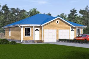 Дом с двумя гаражами на две семьи_мини